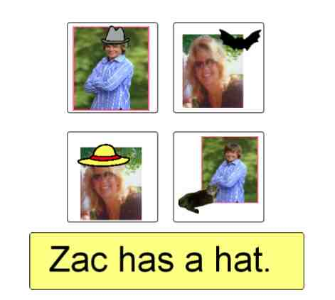 Zac with Hat personalized story